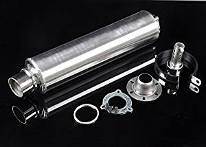 Wotefusi New Motorcycle Silver Rear Tail Race Racing Exhaust Pipe Can For Honda CB400 CB-1 CB400VEC CBR400 VFR400