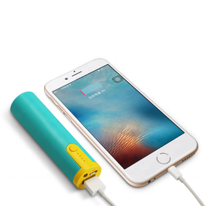 OEM LOGO Small cylindrical single section power bank 2600 mah portable mini charger Battery Charger best selling Free samples