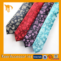Floral necktie fashion silk tie for wedding gift