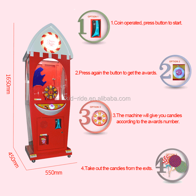 Factory price Coin Operated Lollipop Candy Vending Machine  Snack Capsule  Machine OEM/ODM
