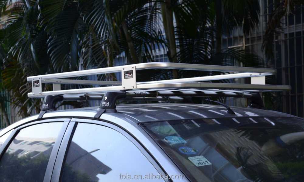 tola universel aluminium auto voiture toit rack 4x4 porte bagages en aluminium de voiture toit. Black Bedroom Furniture Sets. Home Design Ideas