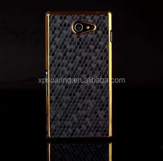Electroplating hard shell cover case for Sony Xperia Z2