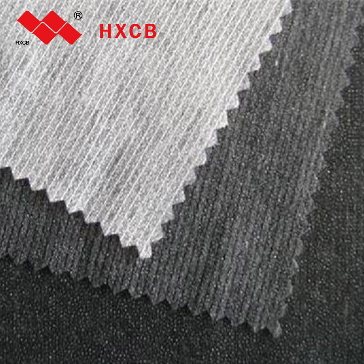 2019 (6047W)100%Polyester Stitch Bond PES Double Dot Suzhou Nonwoven Shirt Interlining Fabric For Suzhou Clothes