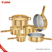 Luxury Bright Eco Friendly Gold Color Cookware