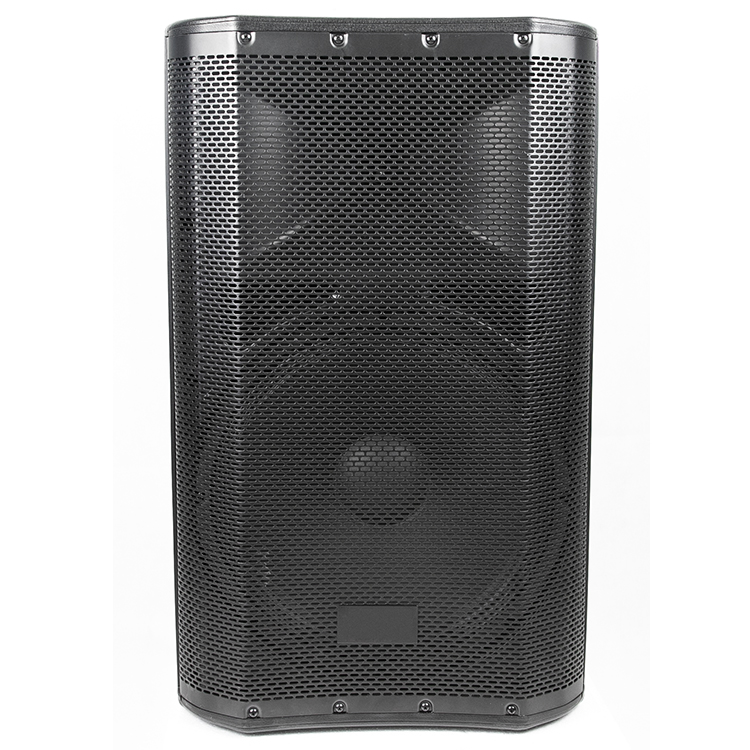 2019 new design 15 inch black PA sound system Professional outside use powered karaoke trolley speaker 150w
