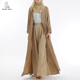 simple style muslim design kimono open front abaya for EID women