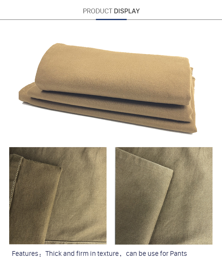 Fashionable Style Cotton Viscose Stretch Elastic Woven Twill Fabric With Weight 300GSM