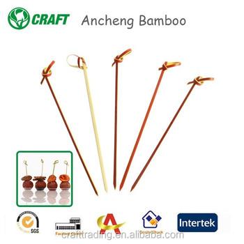 Bamboo Flower Sticks Knot Picks Party Decorative Sticks