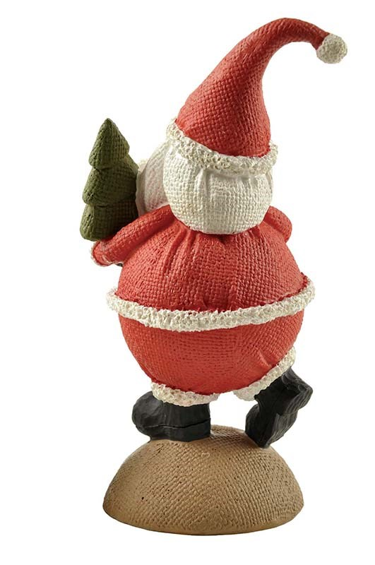 2020 Polyresin Santa Holding Tree on Base for Christmas Gifts