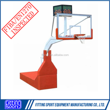 EN 1270 Standard Competition Electro Hydraulic Basketball Hoop/Goal with Laminated Glass