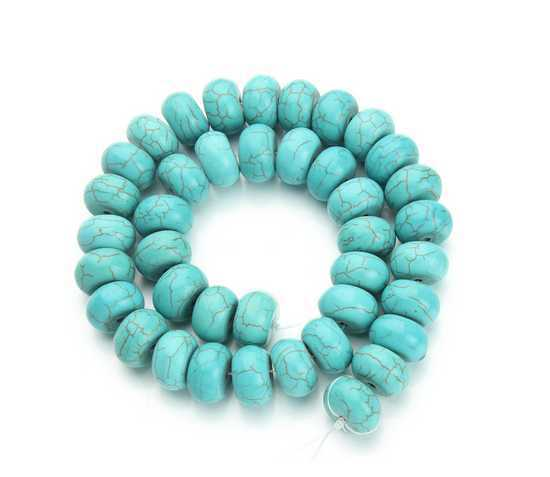Wholesale 1*0.6cm Jewelry Making Findings Natural blue turquoise Beads DIY Bracelet Necklace Loose Stones