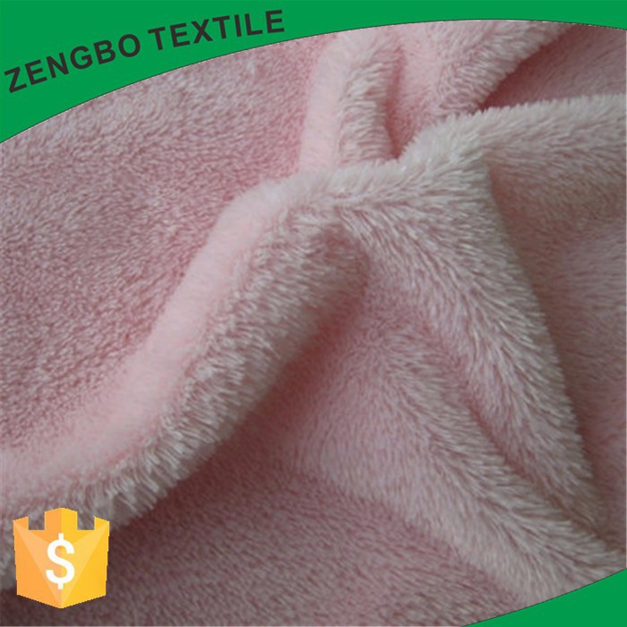 100%polyester solid color shu velveteen fabric materials cheap and warm keeping