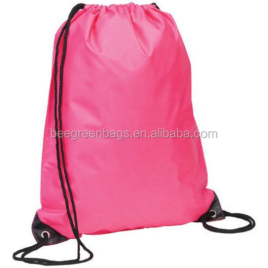 Factory directly supply 210D polyester gym sack drawstring bag for promotional