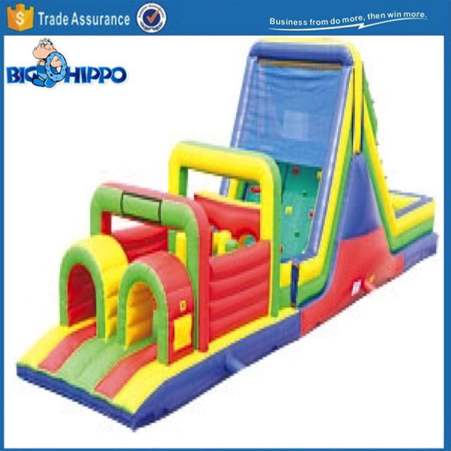 Race challange championship obstacle run bouncy castle house jumper moon bounce Colorful Inflatable Amusement Fun Park