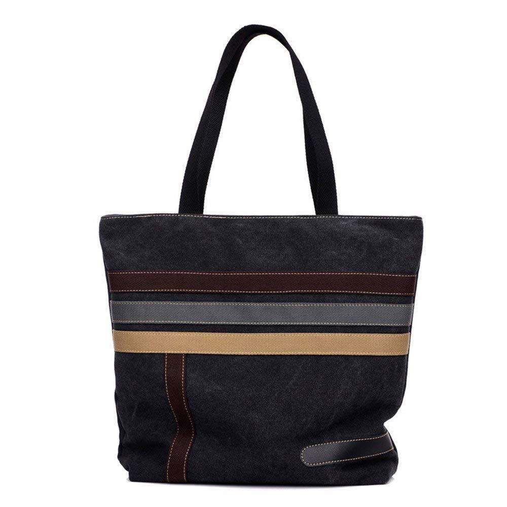WLE A026 Roomy Simple Style Lady Canvas Handbag Women Daily Purse Hobo Shoulder Bag, Khaki