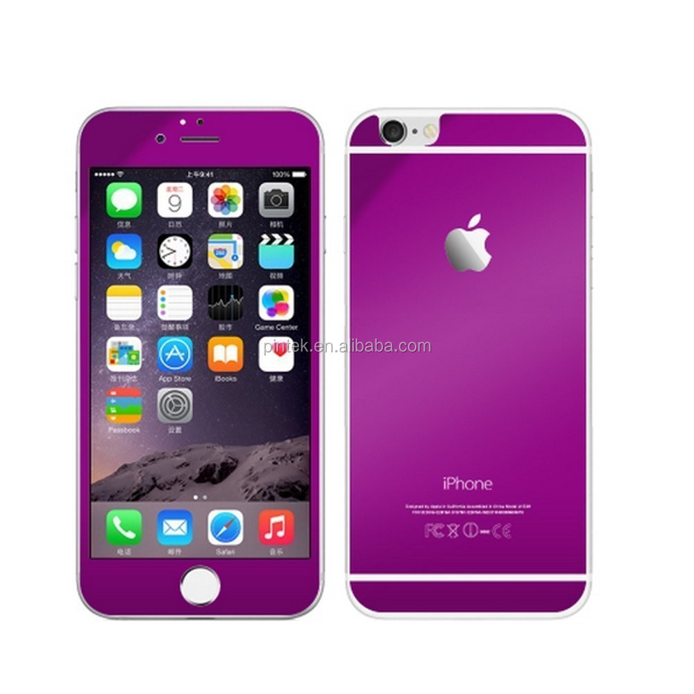 Colorful Mirror Tempered Glass Screen Protector For Iphone 6 & 6 ...