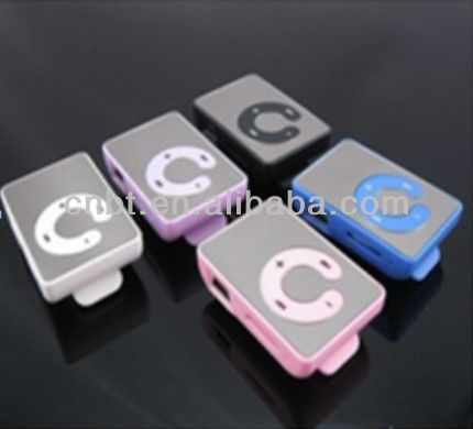 On sale mirror clip mp3 player manual 2gb with high quality