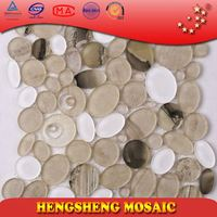 Gypsum board Water Jet Craft Wall Paper North America Popular Resin Glass Moaic Tiles
