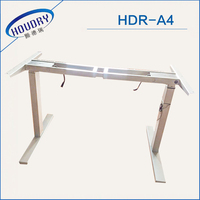 Modern Office Furniture Electronic Height Adjustable Table Designs Two Motors with Two Segments Standing Desk
