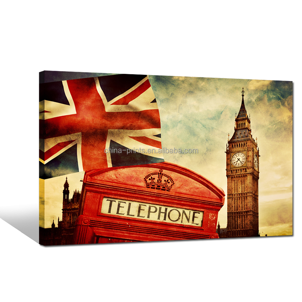 Popular Modern Picture Canvas Art England Design Art Print For Home Decor
