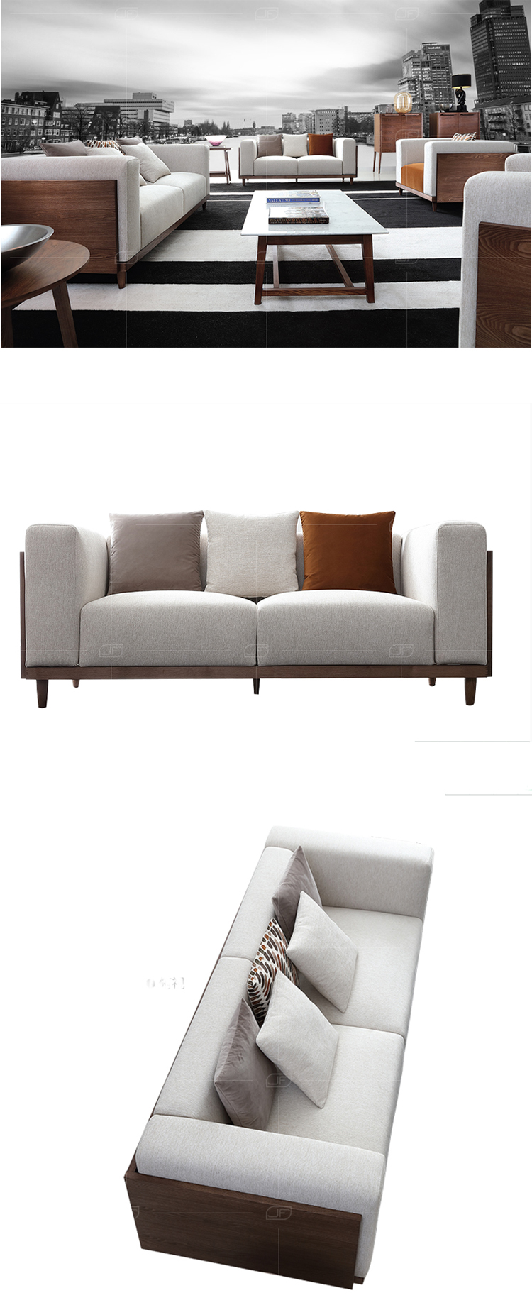 Elegant european stylish modern sectional couch living room sofa set furniture