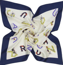 custom make twill silk scarf 90x90