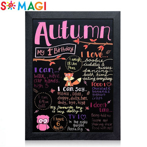 New Arrival Memo Sign Message Chalk Board decorative chalk board for shop