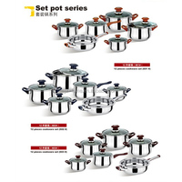 2014 nice gift sets 12pcs cookware sets with bakelite handle