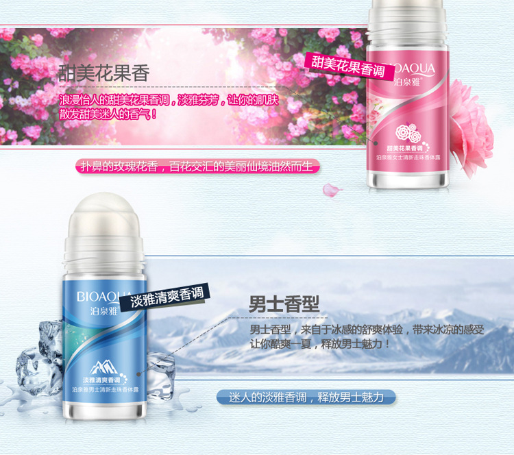 Ball Body Lotion Antiperspirants Underarm Deodorant Roller Bottle Fragrance Smooth Dry Whitening Slimming Body Cream Perfumes
