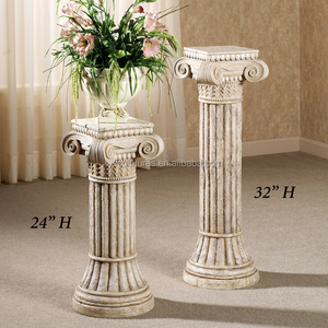 Small size indoor decorative greek stone columns marble pillars