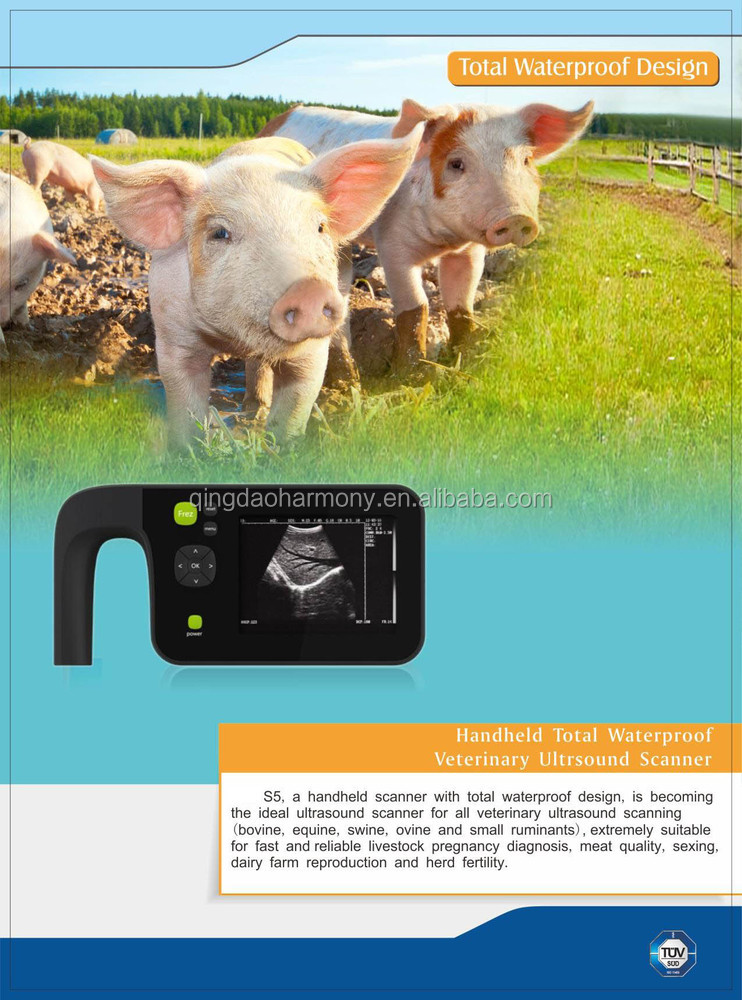 L01766 2015 new Palm-size Veterinary Ultrasound Scanner for pig