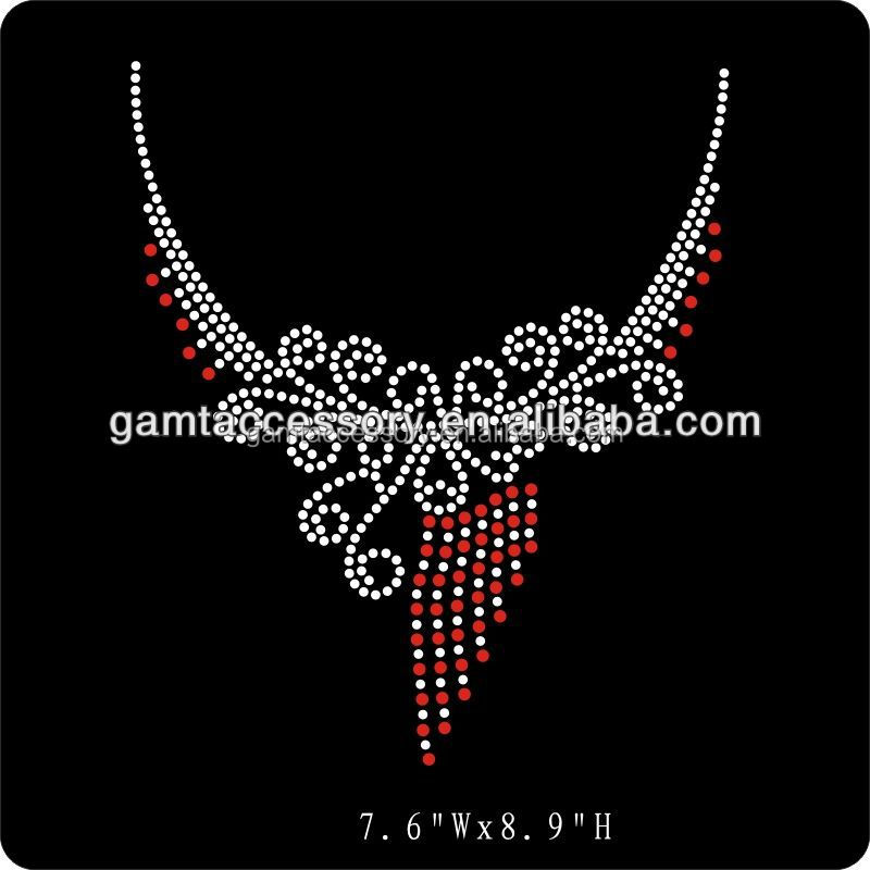 Crystal Necklace Jewellery Rhinestone Iron On Transfers For Bride