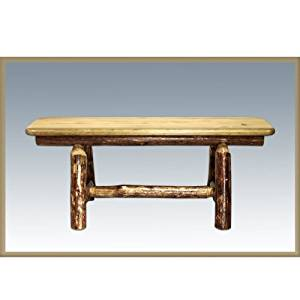 Glacier Country Collection Plank Style Bench, 45 Inch