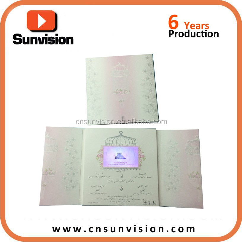 LCD Screen Invitation Greeting Cards Video Mailer Birthday Musical Gift Card