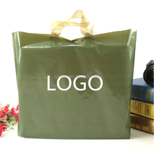 Handle style using green small clear plastic supermarket reusable bag moq500