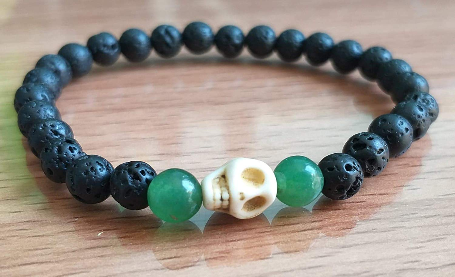 Anklet,Skull howlite,lava stone anklets,green jade stone anklet,It is a fashion for women and men.