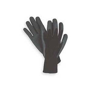String Knit Palm Latex Dipped Gloves, 10-pairs Black Womens