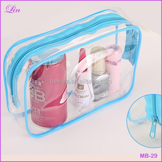 Free Shipping By Dhl/fedex/sf New Clear Transparent Plastic Pvc Bags Travel  Makeup Cosmetic Bag Toiletry Zip Pouch - Buy Cosmetic Bags,Make Up