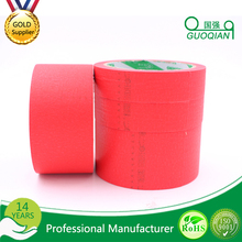 Automotive Crepe Masking Tape 1 Inch x 60 Yrds * Red Color * 6 Pcs Wholesale