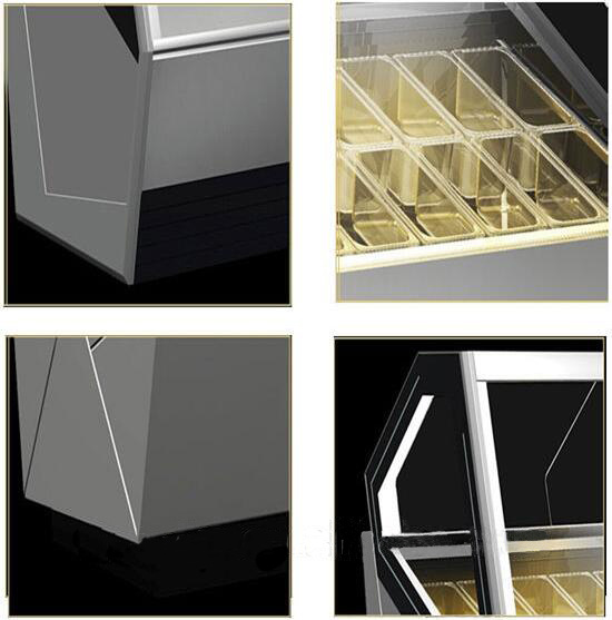 Haagen-dazs frachised outlet 26 trays commercial ice cream gelato display cabinet freezer