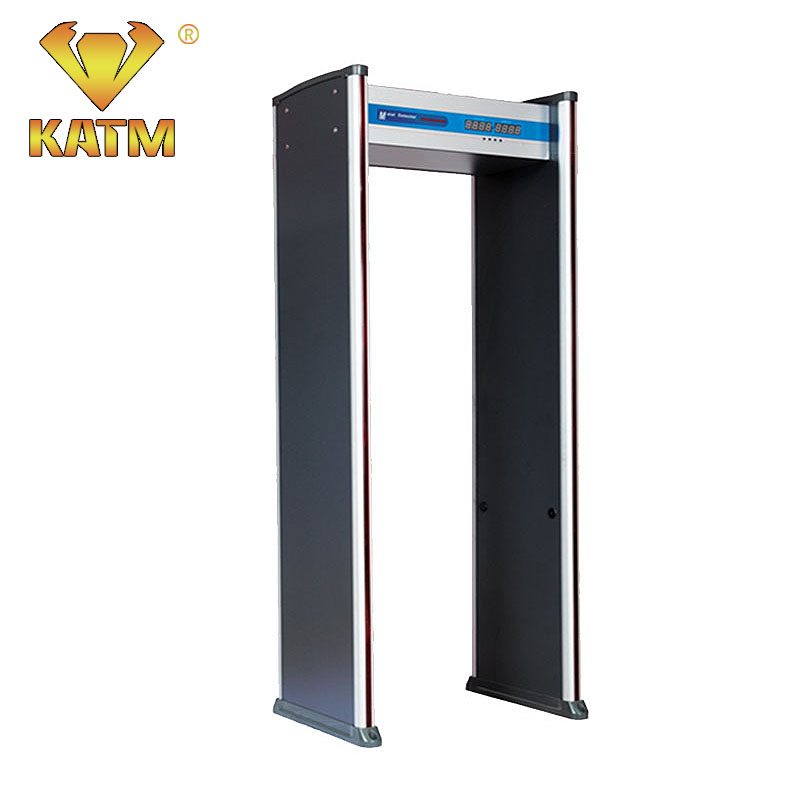 6 zones high density frame Walk Through Metal Detector security door with Four LED and high sensitivity for airport