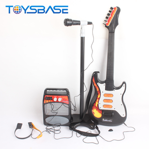 Kids Electric Guitar Toy With Microphone Musical Instruments Guitar