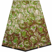 dashiki design fashion green F586 african wax fabric newest design bag, shoes wedding clothing wholesale directly