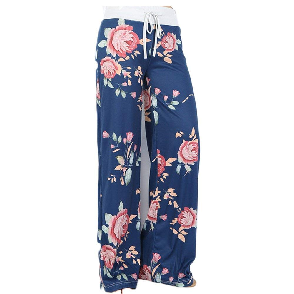 2LUV Womens Antique Floral Print Palazzo Pants