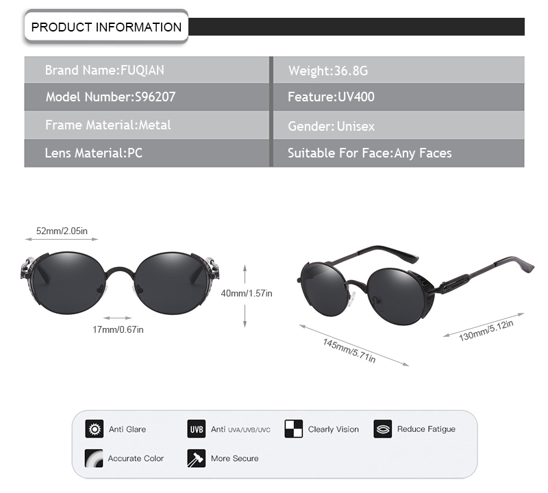 Fuqian mens designer sunglasses sale Supply for women-7
