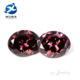 Wholesale Carmine Bulk Oval Cut Synthetic CZ Loose Stone for Decoration
