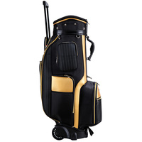 Top Quality waterproof leather stand golf boston bag