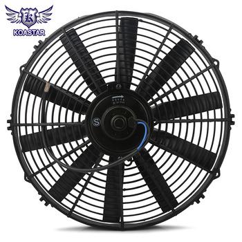 12v 14 Inch Slim Engine Fan Mounting Kit 2250 Cmf Reversible Electric Radiator Cooling