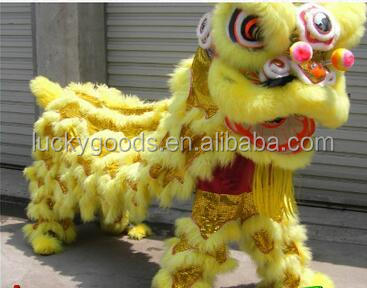 Traditional chinese new year decoration classic high quality yellow lion costume wholesale