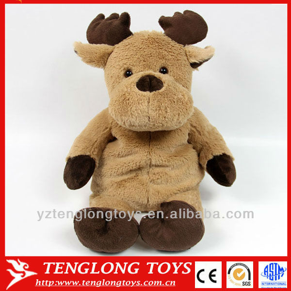 herbal filling warm gift plush christmas toy soft reindeer